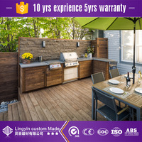 china factory stainless steel outdoor kitchen cabinets with mdf kitchen cabinet door outdoor kitchen island