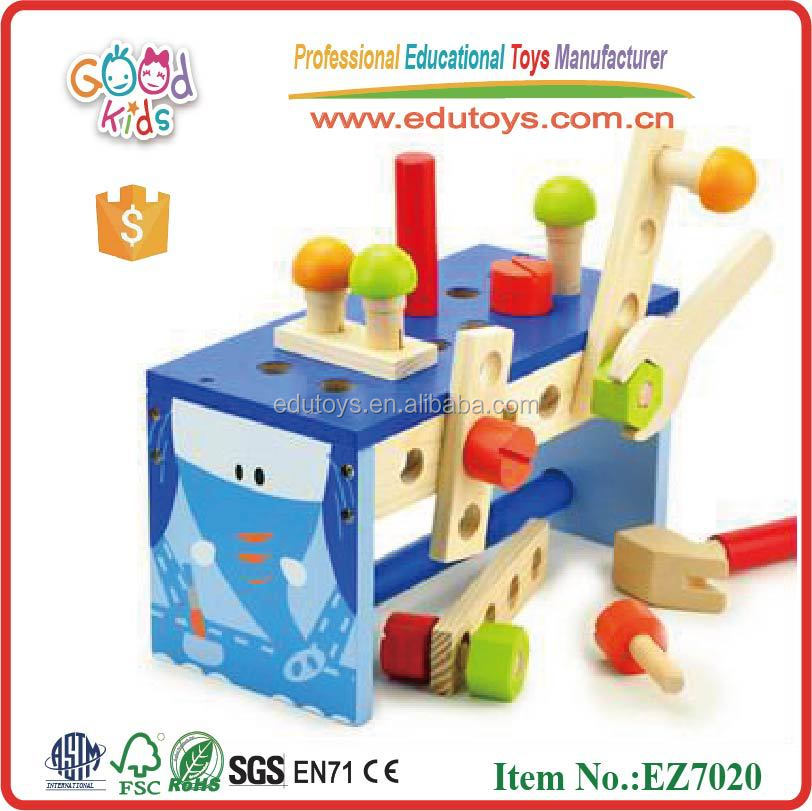 Portuguese Learning Toys : Oem brinquedo educacional de madeira caixa ferramentas