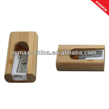 2013 new style bamboo pencil sharpener