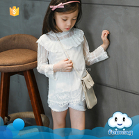 2016 Alibaba whloesale girls white lace dress design child wear flowers girls dress picture indian fancy dress for girls