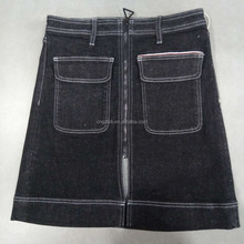 New Summer Ladies latest designed high quality raw Japanese 13.5OZ selvedge redline denim skirt with big front pockets