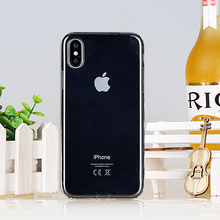hotsale beautiful good quality prevailing ultra thin transparent tpu soft smartphone candy color case for iphone x