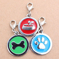 Latest New Colorful Round Metal ID Name Tag Pet Tags