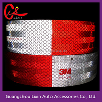 45.7M X 5CM Car Reflective Safety Warning Conspicuity Roll Tape Film Accessories Motorcycle Bike DIY Decoration Sticker Covers