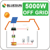 5kw off grid stand alone system solar panel energy system with long time warranty