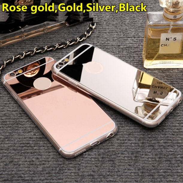 2016 Wholesale Fashion Electroplating Mirror TPU Soft Phone Case <strong>Cover</strong> for iPhone 6/7
