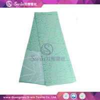 Chinese Lace Manufacture Voile Geometric Lace Fabric Nylon Cotton Blended Lace Warp Knitted Fabric