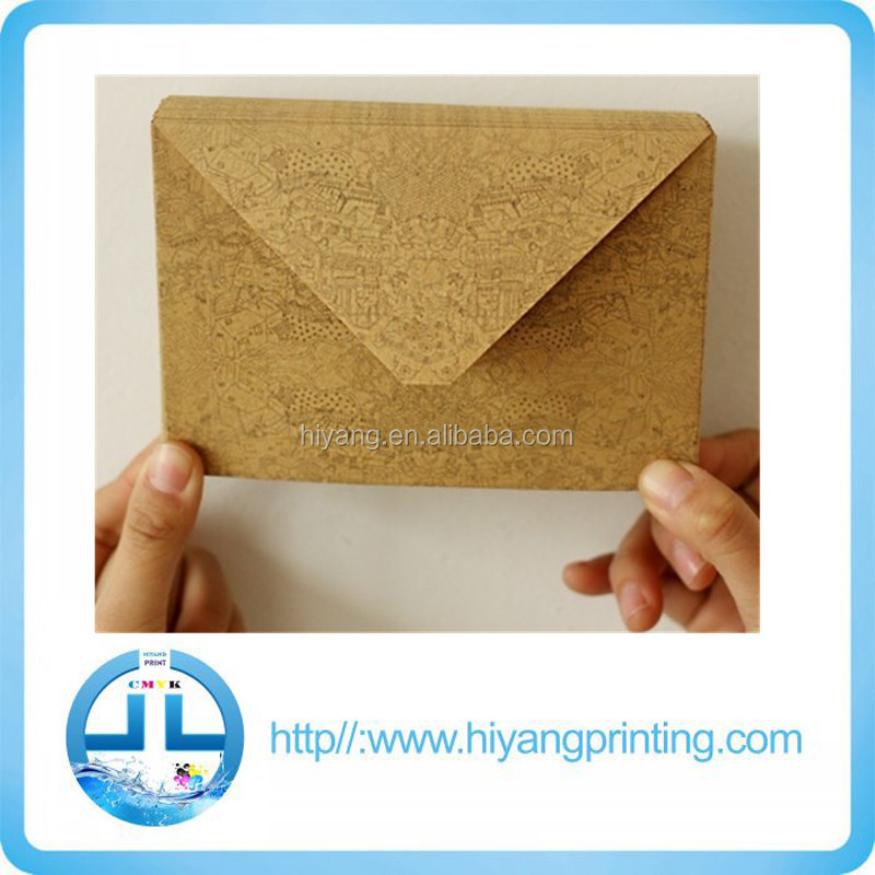 Antique kraft paper envelope