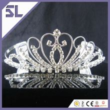 Good Condition Fairytale Silver Crystal Crown Inexpensive