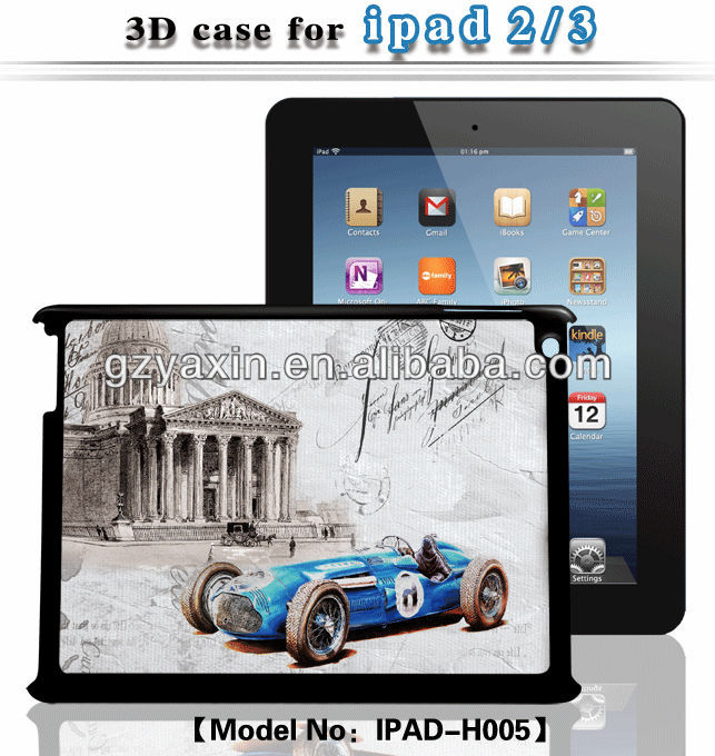 3d case for ipad,professional factory supply 3d case for ipad 3 case