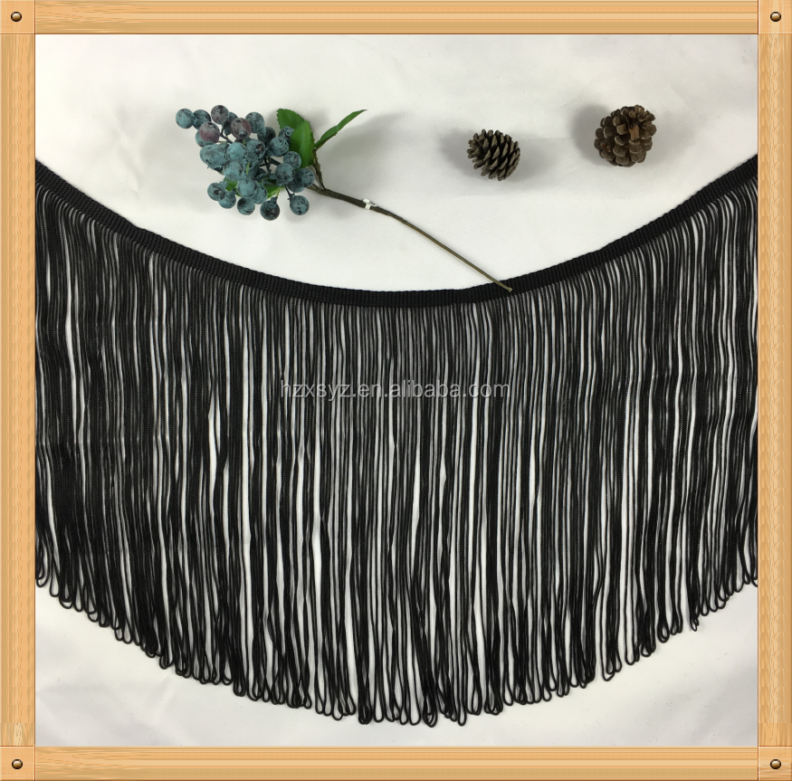 rayon chainette tassel fringe in trimming used for shawl & scarf 2017