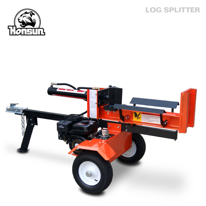 Germany Hanover exhibited 6.5hp Briggs & Stratton Vanguard petrol engine 18ton log splitter for sale