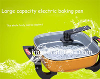 hot Plate ,Non-stick Grill Electric BBQ Grill pan Pizza Pan