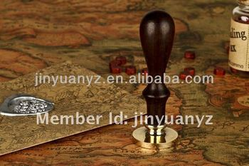 The high quality antique wood handle metal stamp