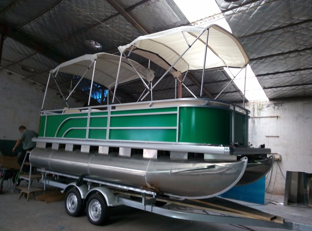 18ft CE Approved Aluminum Pontoon Boat