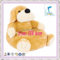 customer design 19 inch Soft Plush puppy chair Toy manufacturer OEM