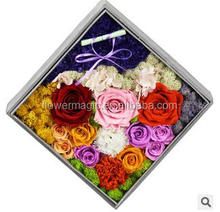 Decorative Flowers & Wreaths Type and Wedding Occasion wholesale real dried not artificial rose preserved flowers in gift box