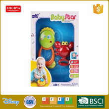 Zhorya new arrival colorful baby plastic rattles set good quality