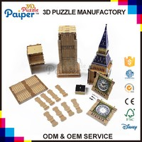 Big Ben puzzle game toys for kid 3d paper puzzle
