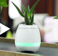 wholesale Multifunction cheap Plastic music flower pot with bluetooth function colorful cheap small flower pots