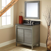 Solid Wood Cheap Single Wholesale Bathroom Vanities