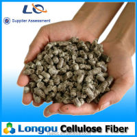 Gray cylindrical pellets cellulose fiber for SMA asphalt pavements