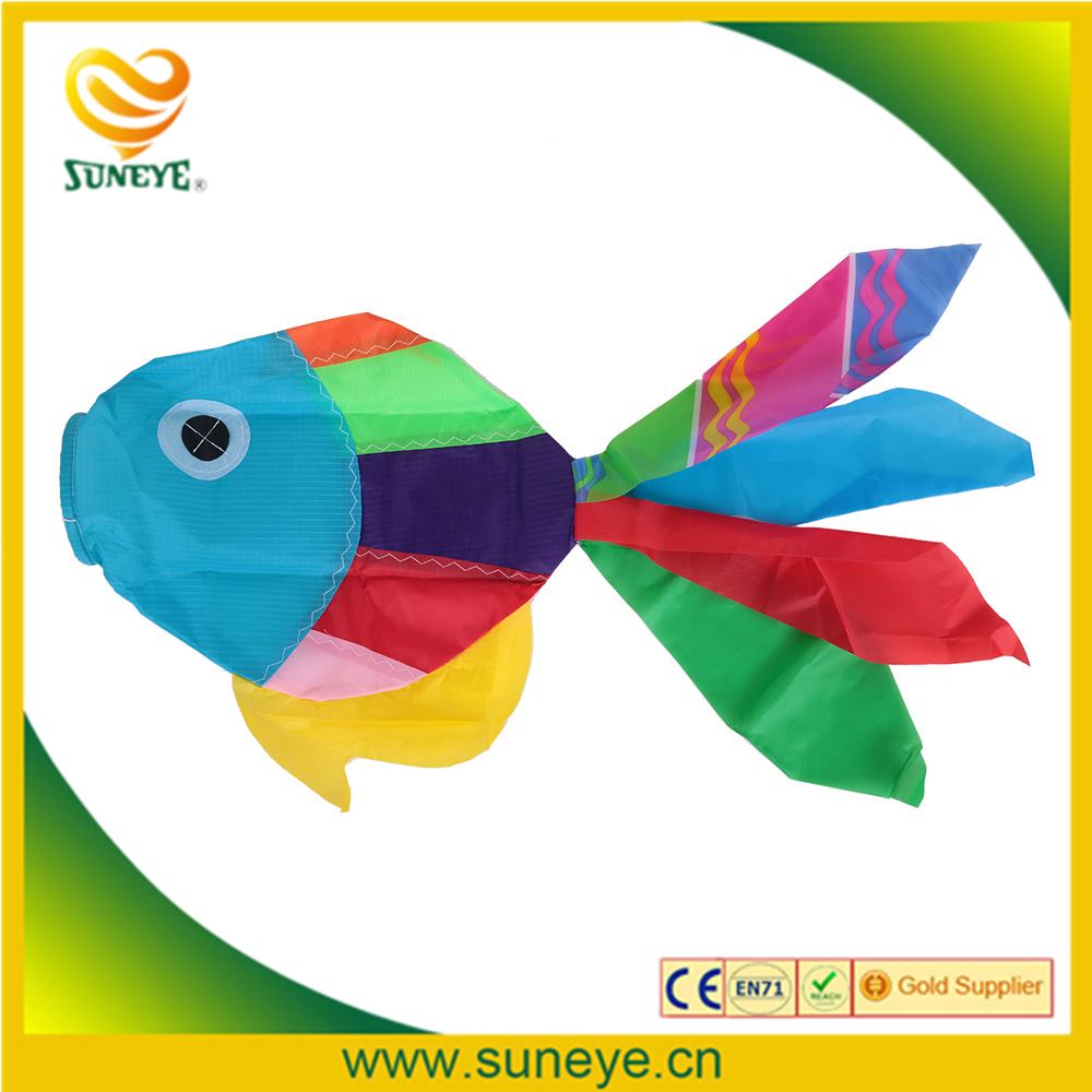 Kids Toys Kite 70cm Length Multicolor 3D Kites Cute Fish-type Kite Fly Tails Ripstop Sail Kite Accessory