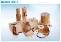 cosmetic packaging secend package wooden boxes with sliding lid