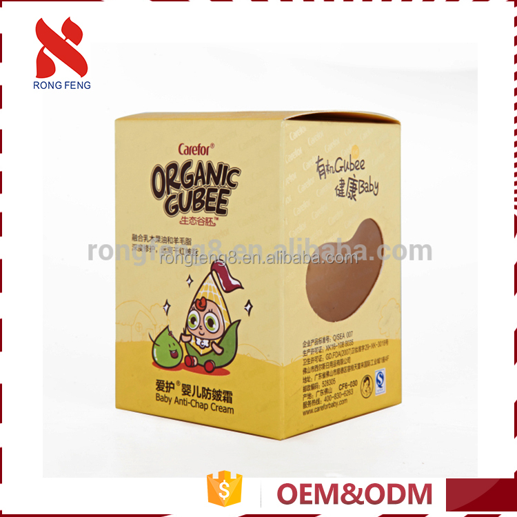 Top selling cheap price PVC Window cosmetic packaging paper carton box