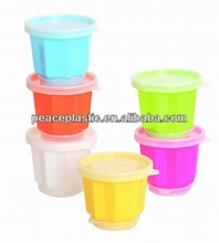 Plastic jelly pudding cup