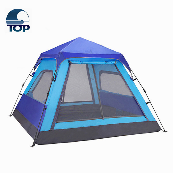4 persons outdoor camping 2 room family tents with vestibules for the 2016 big promotion