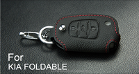 OEM For KIA Brand 4D technology genuine leather car key smart case