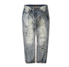 bulk wholesales jeans funky men ripped distressed skinny new model jeans pants for men