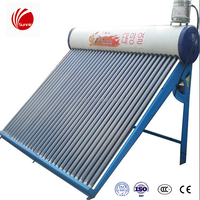 Low Price pressurized 100L evacuated tube solar collector for Home use