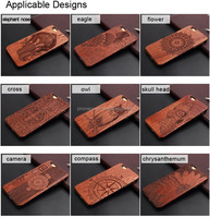 different customer design wood cases mobile phone shell laser engraving phone cover for iphone 4.7inch,5.5inch