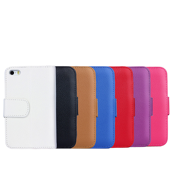 IP5017 Best Quality Wallet Cell Phone Case For iPhone 5S , Multifunctional Leather Wallet Cover for iPhone 5S