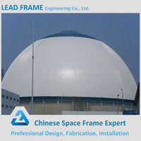 pre fabricated steel structure geodesic dome roof for coal storage