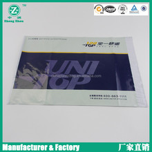 0.02mm thick LDPE 3 to 4 color printed express bags with transparent plastic cover window for courier waybill(zzpm105)