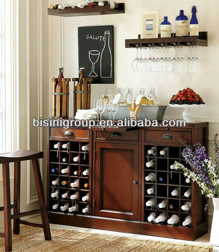 Bisini Simple Style Solid Wood home bar Cabinet(BF09-14010)