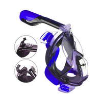 Underwater full face diving mask full face goggles snorkel scuba camera diving mask for adults and children