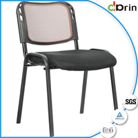 High back staff office chair without wheels