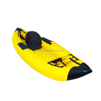 Pvc inflatable kayak rowing boat with paddle for 2 persons