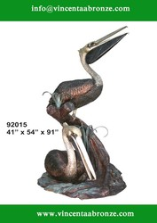 Bronze Pelicans sculpture for sale