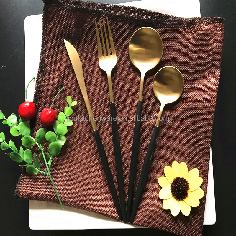 two color wholesale stainless steel wedding cutlery sets