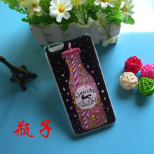 For iPhone 6 / 6s / 6 Plus / 7 / 7 Plus TPU PC Colorful Glitter Phone Back Cover Liquid Phone Case