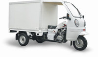 Chongqing 200cc Closed van Adult food cab Tricycle on Sale for cargo