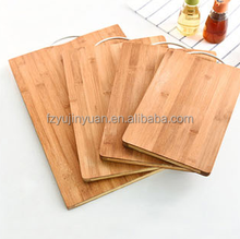 custom mini bamboo cutting board set kitchenware natural chopping board blocks with holes cutting board with scale functional