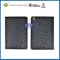 C&T Sublimation stand new luxury leather cover case for ipad mini