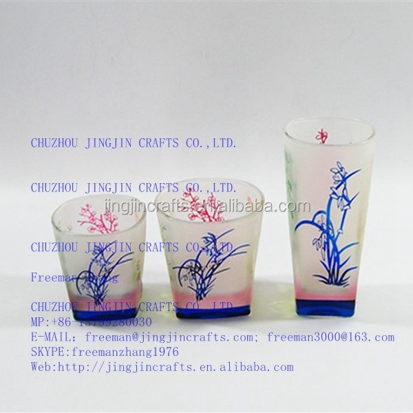 2015 best selling promotional frosted square glass tumbler for drinkware,glass beverageware