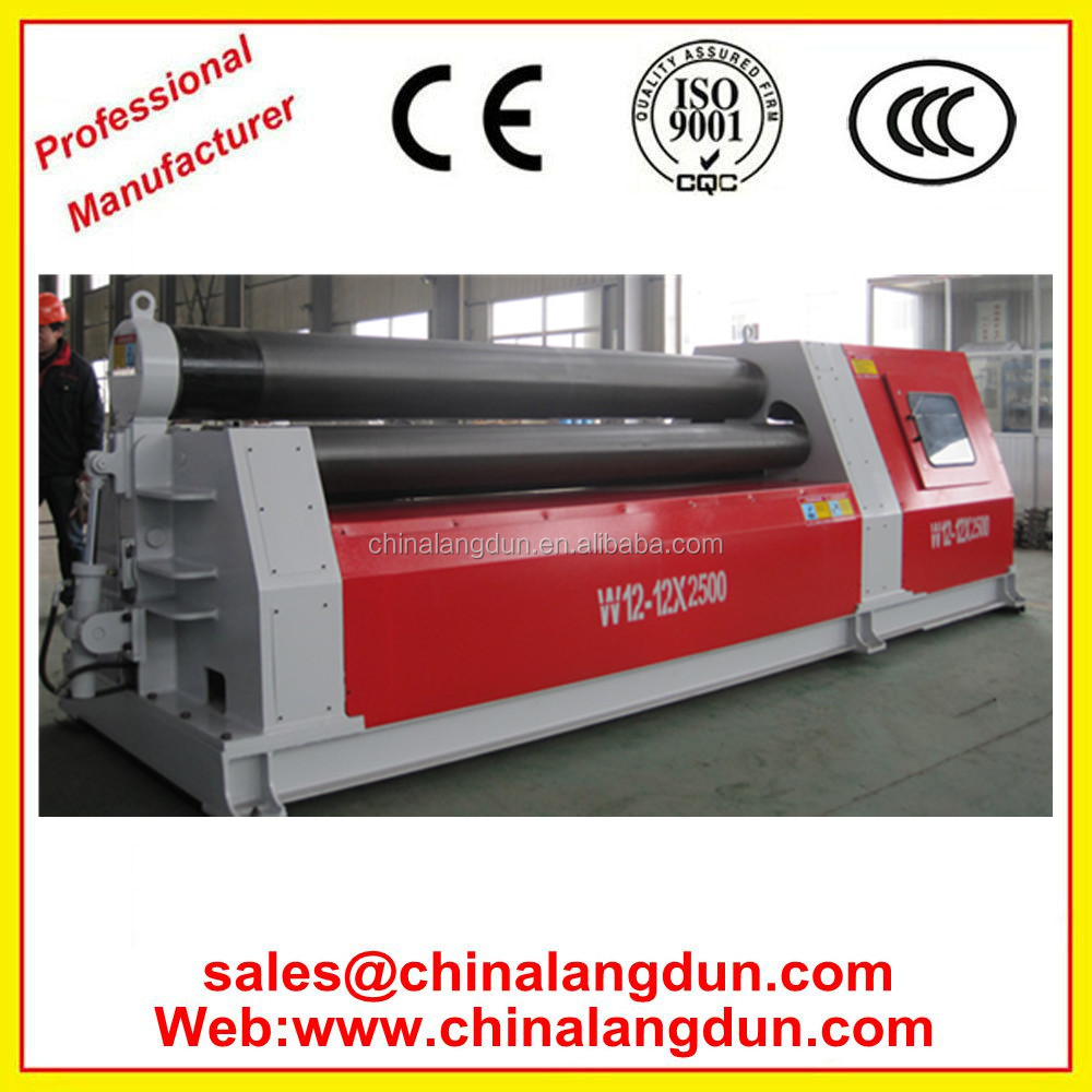 China W12 20mm 12*3000 Hydraulic sheet metal plate 4 roll bending machine